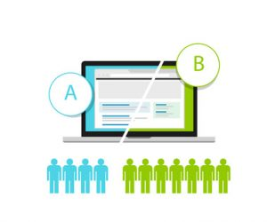 AB testing A?B split comparison web conversion test