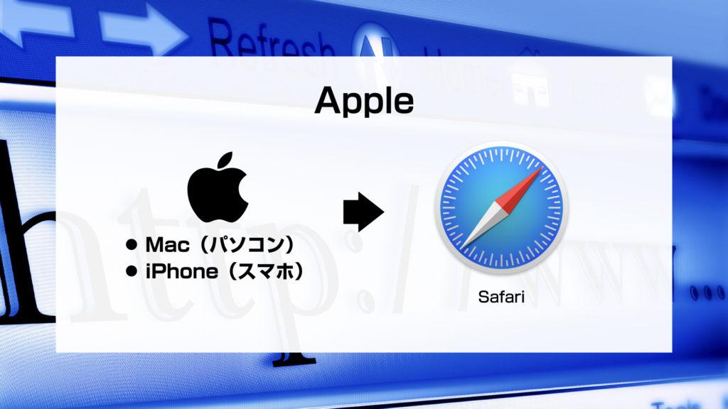 アップルのブラウザ